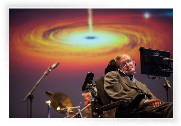 Stephen Hawking en conferencias de agujeros negros y sus discos